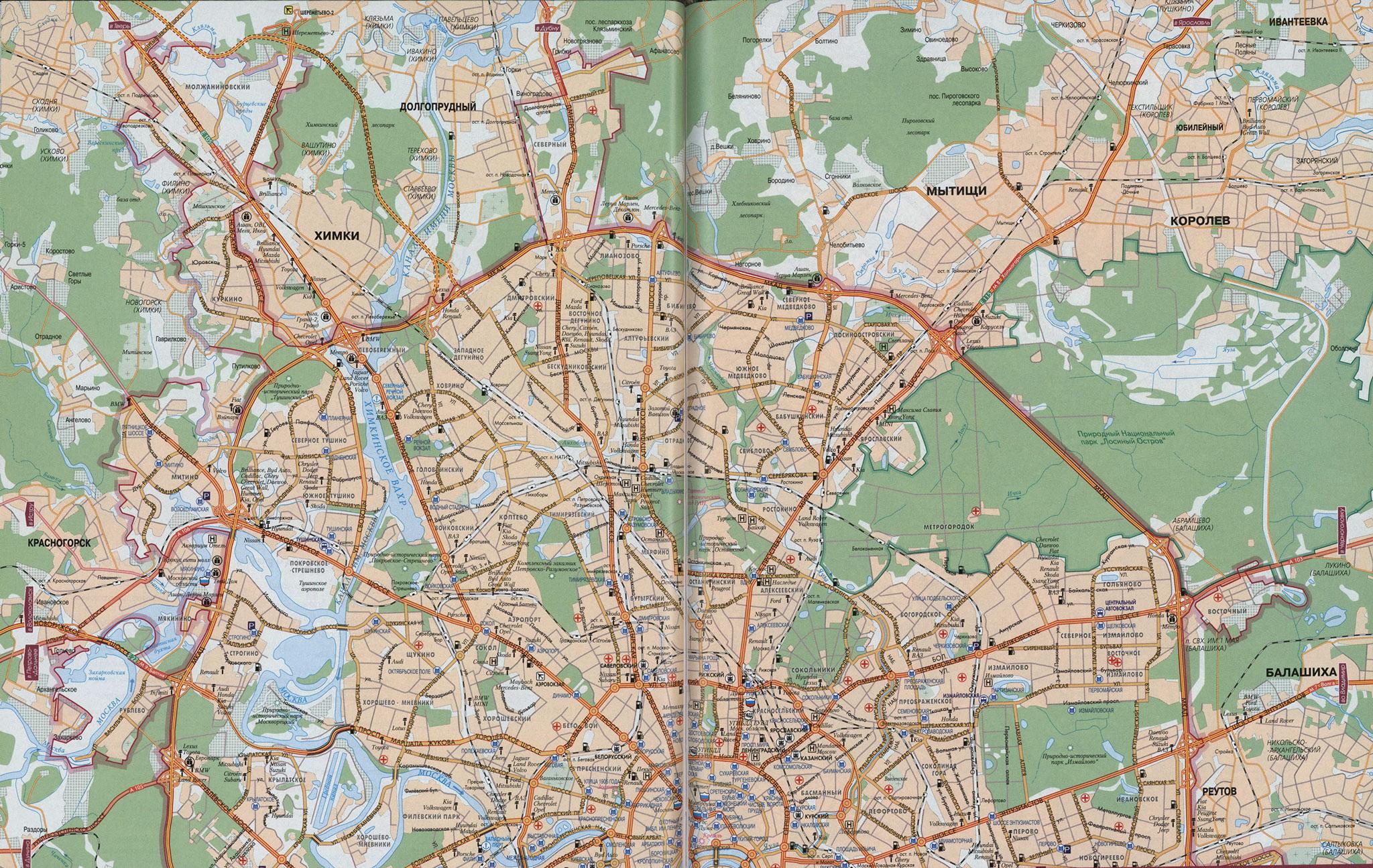 Автомобильные дороги москвы схема 101