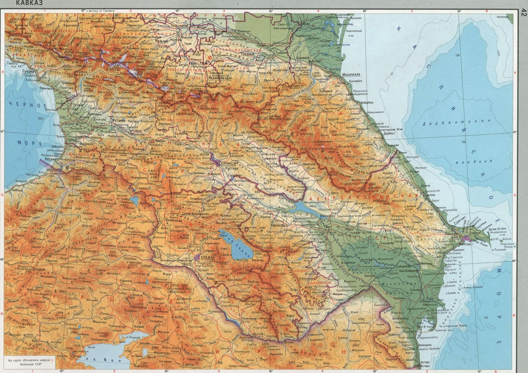 Foto Kavkazskie Gory Na Karte